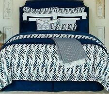 Sferra MADSEN Euro Continental Sham Navy//Cornflower Cotton Percale Print New
