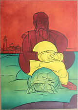Valerio ADAMI - Lithographie litografia signée numér. Tartaruga di San Giorgio *