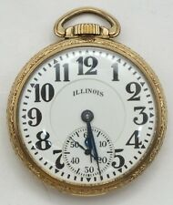 Illinois Bunn Special 60 Hour 21 Jewel Type III Railroad Pocket Watch Runs LW184