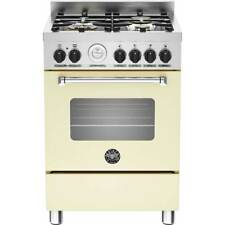 Bertazzoni MAS60-4-MFE-S-CRE Free Standing Dual Fuel Cooker with Gas Hob 60cm