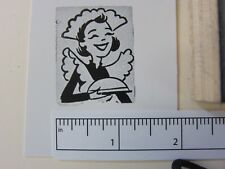 "Printing Letterpress Printers Block, Printers Cut, ""Maid"", Zinc"
