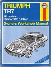 TRIUMPH TR7 Haynes Officina Proprietari Manuale di tutti i modelli 1975-1982 1998 CC