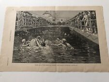1891 Harpers Print Water Polo Match At The Manhattan Athletic Club #101519