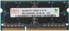 ram Hynix 2GB 2G 2RX8 DDR3-1333 1333Mhz PC3-10600S CL9 SO-DIMM Laptop portatile