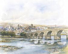Tom MacDonald Hexham desde el río Tyne Letra Grande