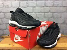 Las SEÑORAS UK 4 EUR 37.5 Nike Air Max 97 Negro Blanco bala OG Zapatillas Rrp £ 155 LG