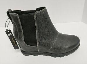 Sorel Joan of Arctic Wedge II Chelsea Boots, Black, Women's 8.5 M