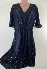 NEXT black diamond print short sleeve tea dres size 12 Tall Read Description