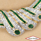 Estate Diamond 10.14ct Emerald 18K Gold Pendant Chain Necklace 48.1 Grams NR