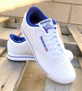 Reebok Princess FV5294 White Royal Blue Sneakers Womens Shoes Sizes
