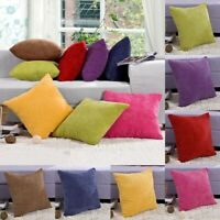 Corduroy Soft Large Crush Velvet Cushion Covers 7 Colours and 2 Size Lizzj