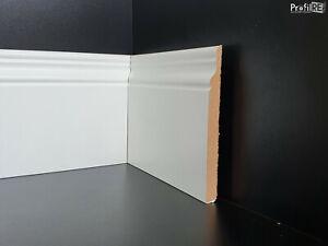 Battiscopa  INGLESE ducale alto 12 cm bianco EXTRA RESISTENTE spessore 10 mm