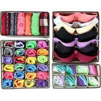 New 4pcs Underwear Closet Container Divider Bra Socks Ties Storage Organizer Box