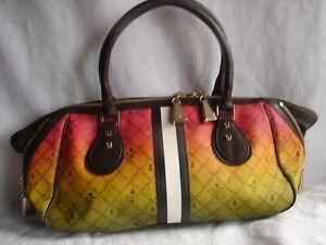 L.A.M.B. Gwen Stefani RASTA Ombre Satchel  Handbag ❤️💛💚$575 14 X 7 X5