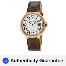 New Cartier Ballon Bleu 40mm 18kt Rose Gold Brown Leather Men's Watch W6920083