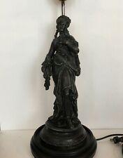 Antique Figural Table Lamp Art Nouveau Goddess Erato Muse, Late 19th Century