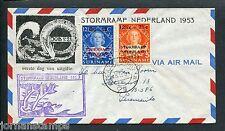 Suriname VOORLOPER FDC V1 _1M, Stormrampzegels, met adres