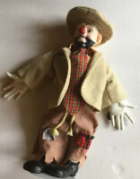 Brinns Porcelain Edition 1983 Hobo Clown Doll