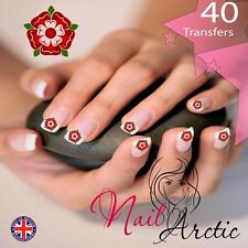 40 x Nail Art Water Transfers Stickers Wraps Decals  England Tudor Rose