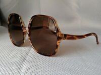 Vintage Oversized Square Women's Brown Sunglasses retro glasses frames for women