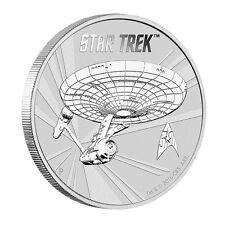 1 oz Silber Star Trek U.S.S. Enterprise NCC-1701 Tuvalu 2016 Stempelglanz