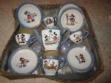 Vintage Walt Disney 1930 Mickey Mouse Tea Set W/Bottom Of Box!!!