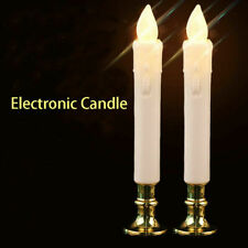1/5/10 Pairs Electric LED Long Candles Flameless Tea Light Tealight Candle Decor