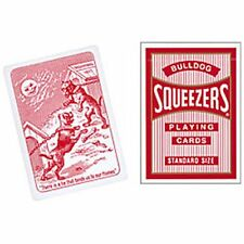 Squeezers Bicycle Playing Cards RED Deck Bull Dog Poker Size Standard Index New
