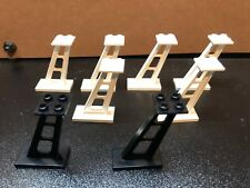 8 x LEGO Small Stanchion Monorail Support 2x4x5 6990 6991 Black And White