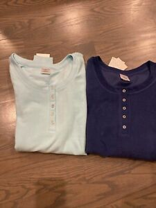 Lot Of 2 Croft & Barrow Intimates Cozy Loungewear Tops, Size Small, Retail $56