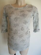 NEW LOOK MATERNITY GREY BUTTERFLY FINE KNIT JUMPER TOP SIZE 8