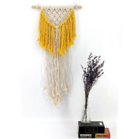 Wall Hanging Tapestry Handcrafted Tassel Macrame Woven Boho Chic Craft Art ##