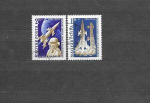 Hungary 1961 Yuri Gagarin FIRST MAN IN SPACE CNH Set SC # 1381-1382