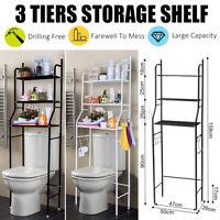 3 Tier Over Toilet Bathroom Space Saver Metal Towel Storage Rack Sh
