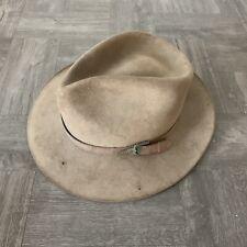 STETSON LL Bean Moose River Khaki Felt Hat Size 6 7/8 - Needs a Little Work