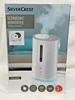 SilverCrest Ultrasonic Humidifier Silver Ion Filter Aroma Diffuser New Sealed