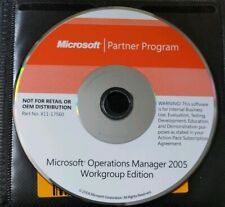Microsoft Operations Manager 2005 Workgroup Edition Partner Program disc & key