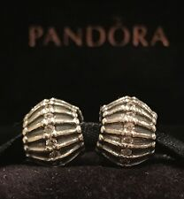 AUTHENTIC PANDORA SHOW STOPPER CLEAR CZ STERLING SILVER SET OF TWO PANDORA BEADS