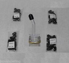 4 Dozen Meduim Black Dust Caps Bar Supplies Bottle Pour Spout Pourer Cover