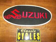 Suzuki  patch Vintage Large Embroidered 1970s NOS TM RM  GT750 GT550  T500 TS TC