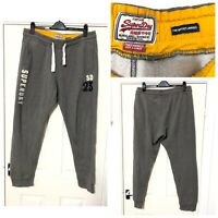 Superdry Grey Joggers Activewear Bottoms Mens Size XL (C551)