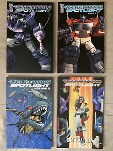 Transformers Spotlight Vol. 1-4 TPBs Lot In Great Condition - 4 Books Total