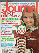 DECEMBER 1979 LADIES' HOME JOURNAL MAGAZINE-CHRISTMAS ISSUE-COOKIE-CANDY RECIPES