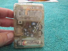 Sony SRF-39FP Clear Transparent AM FM Radio Vintage Prison Retro