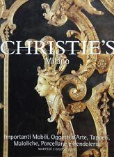 CHRISTIE'S MILANO IMPORTANTI MOBILI OGGETTI D'ARTE TAPPETI MAIOLICHE PORCELLANE