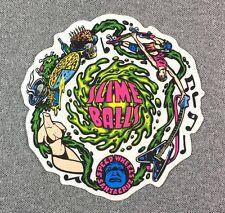 Santa Cruz Slimeballs Vomit Skateboard Sticker 4.25in si