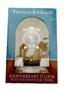 """NEW Thomas Kinkade"""" Victorian Light """" 2006 Porcelain Revolving Pendulum Chimes"""