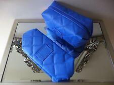 Philip Kingsley Acolchado limpie Maquillaje Bolsa | 20 X 12 X 10cm Azul Cobalto Nuevo