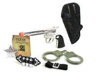 Spielzeug Cowboy Western-Set Pistole Gürtel Revolver Colt Fasching Kostüm