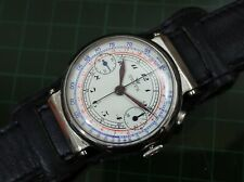 Vintage mens Unver chronograph manual wind swivel lugs fully restored rare watch